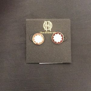 Gold and Creme earrings